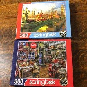 Bundle of two 500 pc. Springbok puzzles